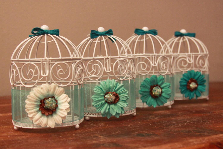 Mini birdcage centerpieces - photo#7
