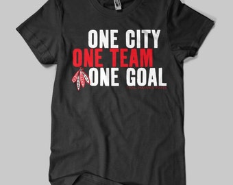 Chicago Blackhawks T-Shirt Stanley Cup One Goal Blackhawks Shirt