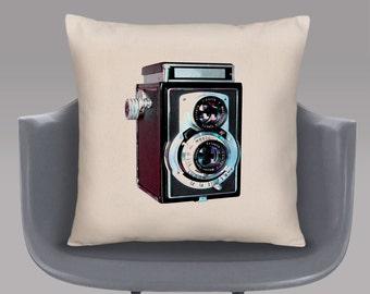 Vintage Camera Cushion Cover