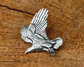 Eagle Pin Brooch Badge Pewter Bird Of Prey Gift