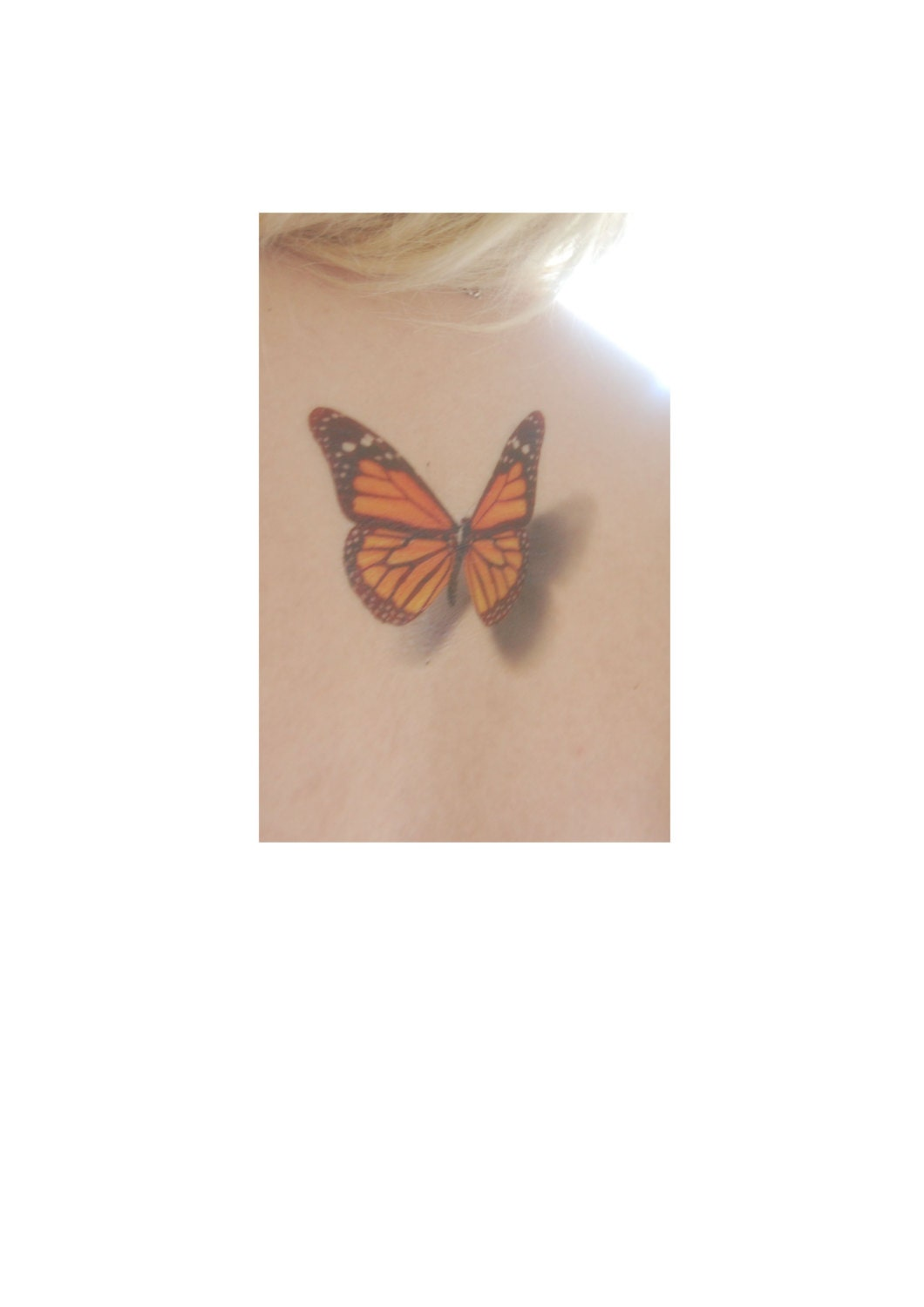 Monarch Butterfly 3d Butterfly Tattoo By WickedlyLovelyArt