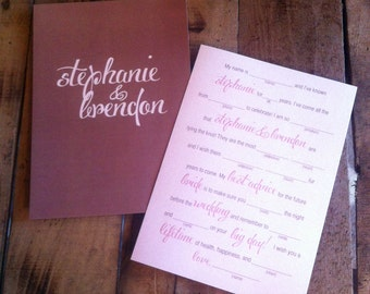 Bridal Shower-AdLibs-Pink and Brown