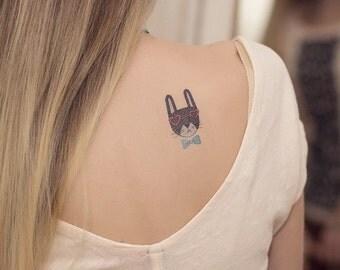 Animals Rabbit tattoo sticker by Victoria Dedkova