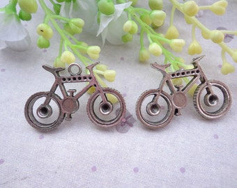 50PCS 35x23mm Lovely Bicycle Charm Pendant --Antique Silver