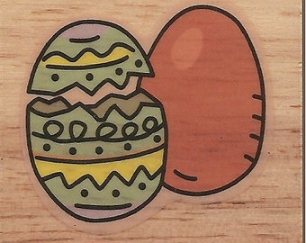 Canadian Maple EASTER EGGS Rubber Stamp