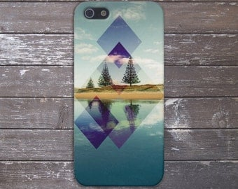 Mountain Lake x Geometric Reflections Case for iPhone 6 6 Plus iPhone 7  Samsung Galaxy s8 edge s6 and Note 5  S8 Plus Phone Case