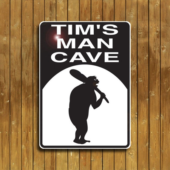 Man Cave Mirror Signs : Man cave sign personalized just for you