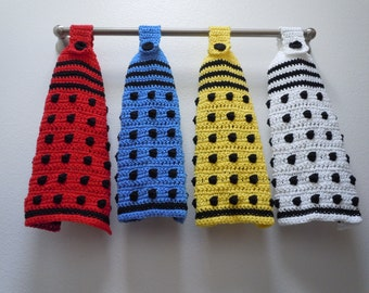 Doctor Who Dalek Inspired Hanging Towel Set of 4