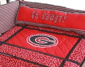 Items similar to georgia baby bedding crib bedding for Georgia bulldog bedroom ideas