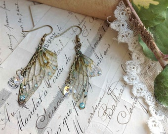 "Rather pretty Small  ""Faerie wing earrings"""