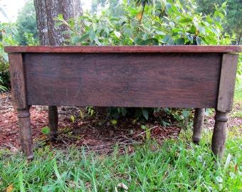 Vintage Antique Primitive Piano Storage Bench