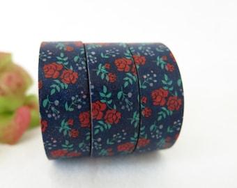 Floral Washi Tape / Decorative Washi Paper Masking Tape  WT014