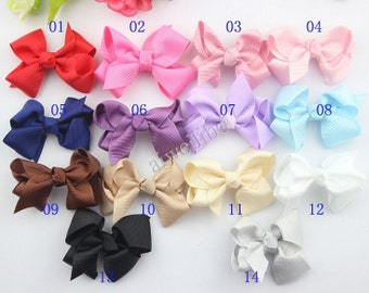 Ribbon Bows, Ribbon Hair Bow,Baby Hair Bow, Grosgrain Ribbon Bow, Headband Bow