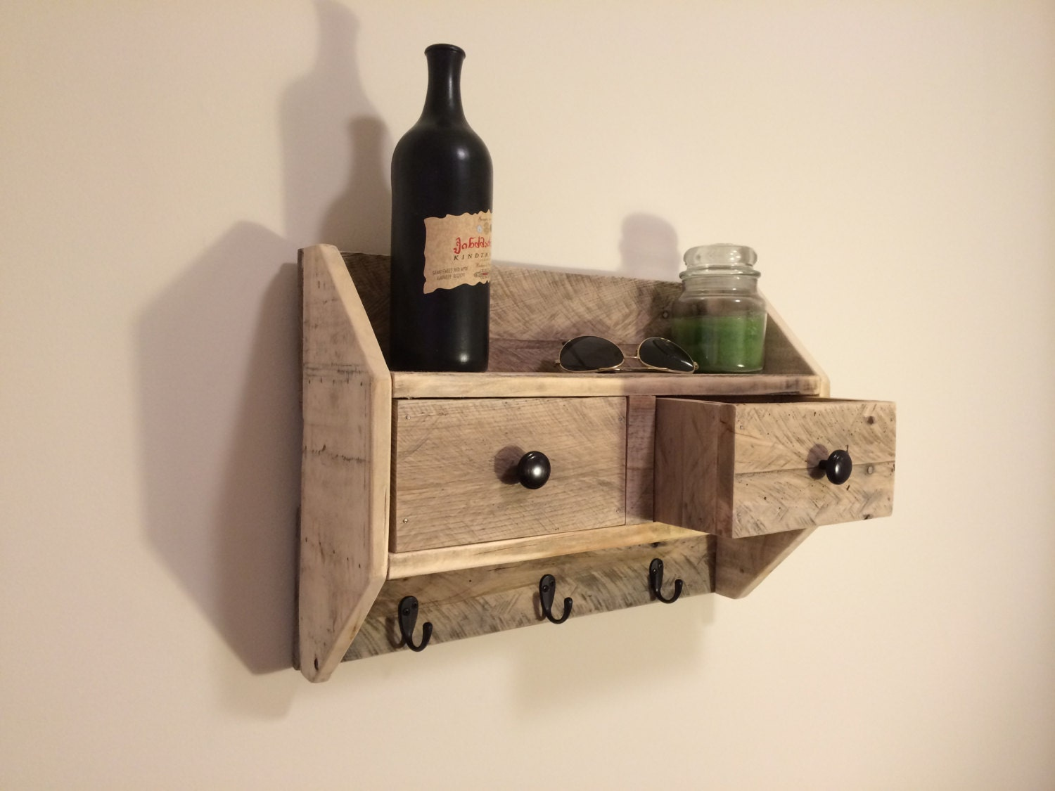 Wall Shelf Wall Storage Coat Rack Coat Hanger Drawer