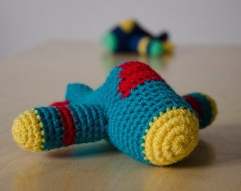 Crocheted plane | accessory or (baby) toys