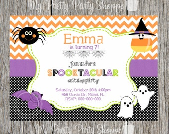 Halloween Costume Birthday Party Invitation
