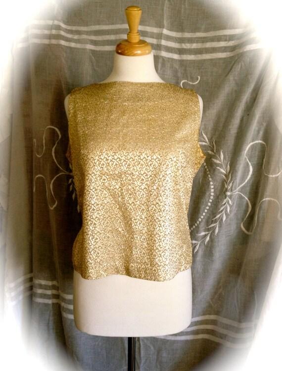 Gold lame blouse mexican blouse for Chambre de la couture parisienne
