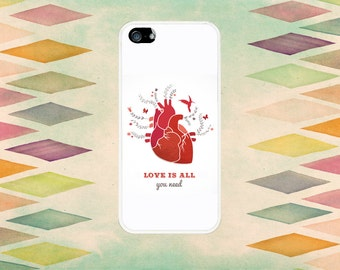 Love Is All You Need Anatomical Heart Case: iPhone 4 // 4s, 5c or 5 // 5s