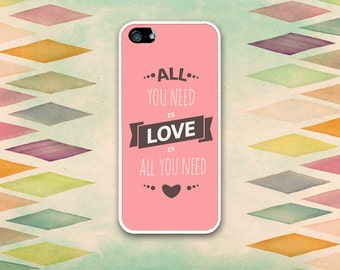 Love Is All You Need Typography Case: iPhone 4 // 4s, 5c or 5 // 5s