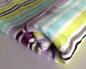 Baby blanket. Baby Comforter. Super soft Minky Fleece on both sides. Robert Kaufmann designer fabric. Washable.