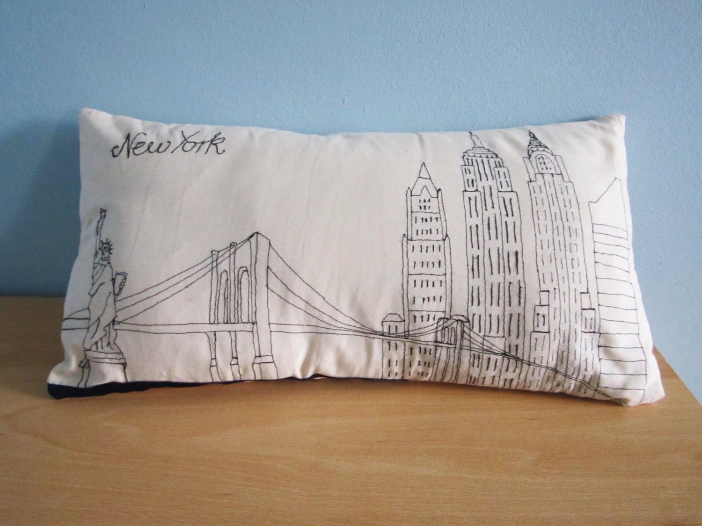 Throw Pillow Cover New York Skyline Decorative Pillow