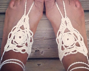 SUMMER SPECIAL! 2 Pairs for 16.00 Barefoot Crochet Sandals