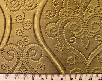 Gold Flourish - Fabric by the Yard 044
