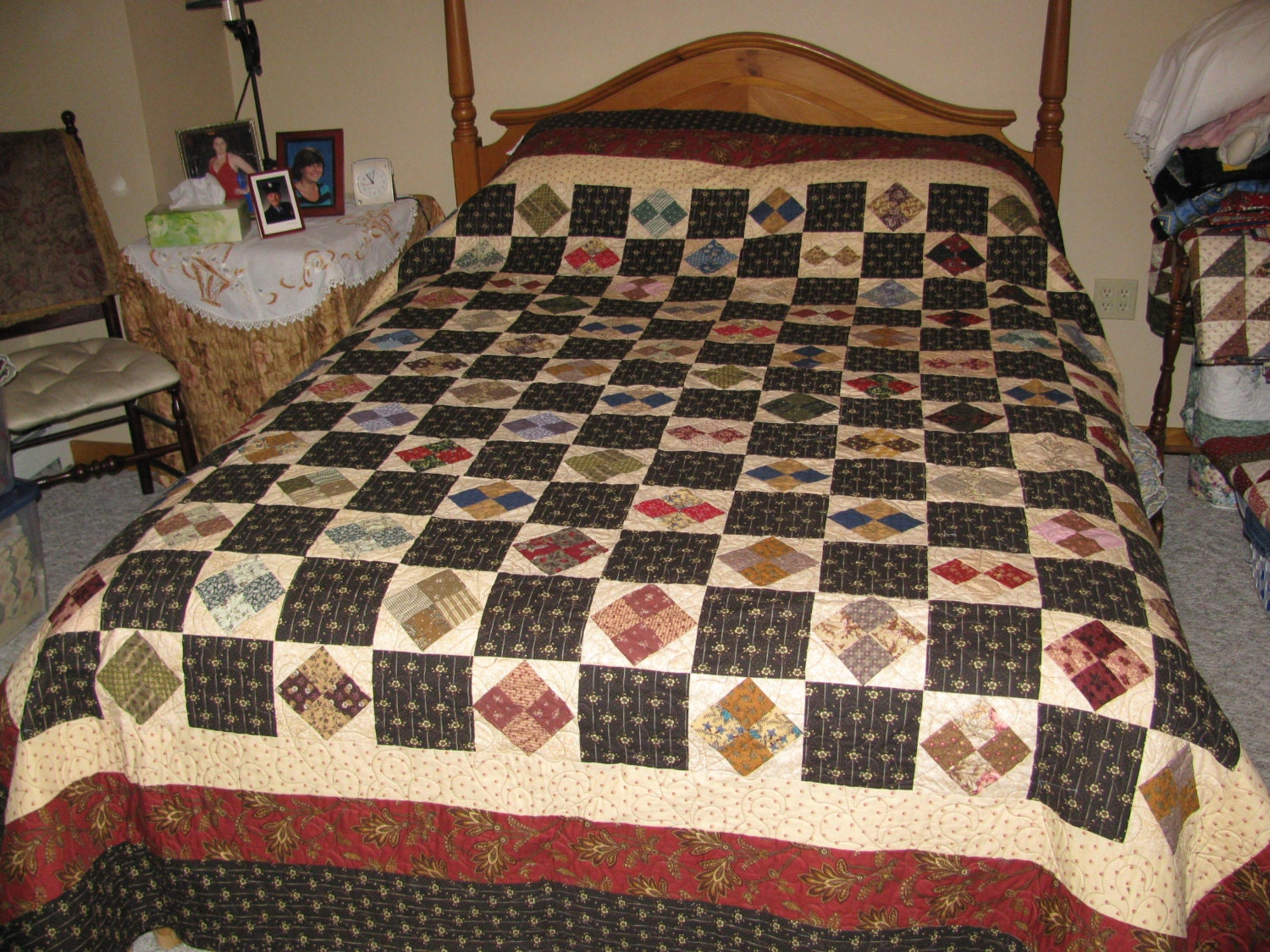 King size quilt this quilt pattern is called a square in a for Bed quilting designs
