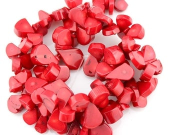 100 Pieces,One Full Strand,Teardrop coral beads,Coral Beads,Red Coral Beads,Red Stone,Gemstone Beads---10*16mm---16 inches--BC005