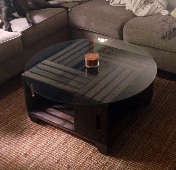 Items Similar To Wine Crate Coffee Table On Etsy