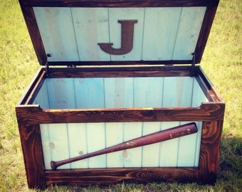 Rustic Toy Chest (Blue)