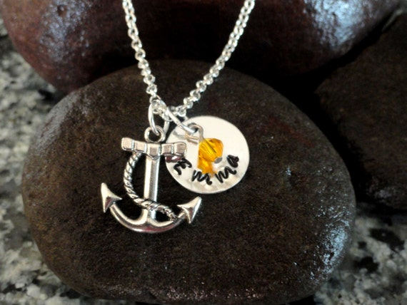 Items similar to Anchor necklace-Beach jewelry-Sea themed ...