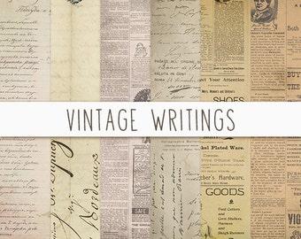 Vintage Newspaper Texture, Vintage Paper Texture, Old Paper Texture, Vintage Digital Paper, Newspaper Scrapbook Paper, Instant Download
