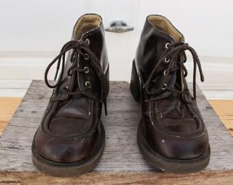 Dark Brown Heel Boots