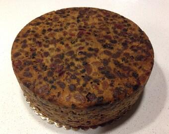 "8"" Fresh Homemade Traditional Fruit Cake"