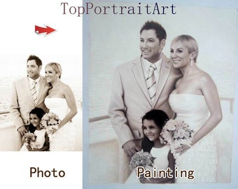 Custom portrait painting,hand painted original realistic oil painting family oil portrait,pet portrait,children portrait etc