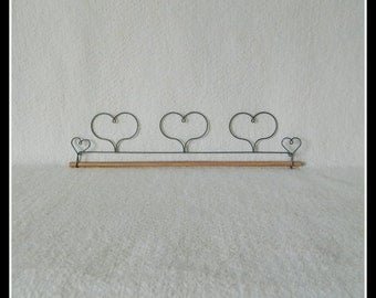 Three Hearts Quilt Hanger ~ Gray Wire 12, 16 or 22 Inches Wide ~ Made in the USA