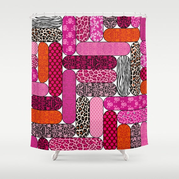 Items similar to nail files shower curtain unique for Girly bathroom decor