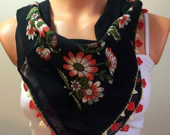 ON SALE ; Multicolor,Turkish Yemeni OYA Scarf ,Scarf Cowl Scarf Shawl Scarf Cotton Scarf - Lace scarf,Headband,Accessories,Gift