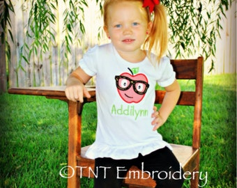 Personalized Back To School Shirt Applique