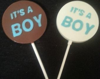 """20 """" It's A Boy"""" Candy Lollipops"""