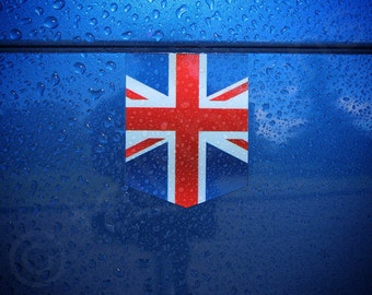 "Flag of UK sticker - 1 3/8"" x 1 3/4"" - Vinyl Decal Car British Emblem Badge United Kingdom Union Jack"