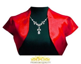 Beautiful Classic Satin Bolero - short sleeve perfect for wedding / party bolero jacket shrug #bbjo1
