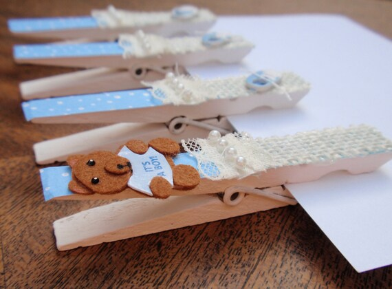 baby shower clothespins optional magnets it 39 s a boy decorated with
