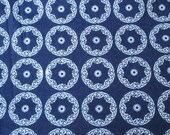 Indigo Print Cotton Fabric Circle design printed cotton by yard