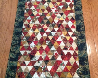 Christmas Table Runner of 400 Triangles