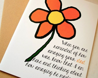 Thinking of You Card - Sympathy Card - Amazing Dad