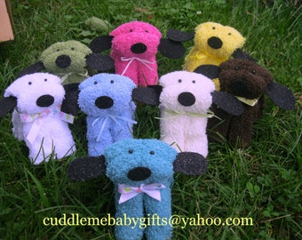 Baby Shower Washcloth Puppy Baby Shower Favors