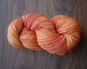 Alpaca Merino Yarn Hand Dyed in Clementine and Grapefruit
