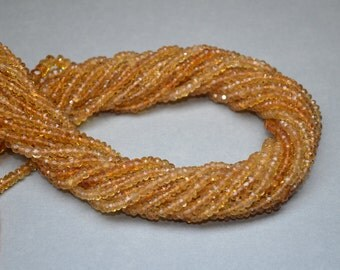 AA Faceted Citrine Bead Strands